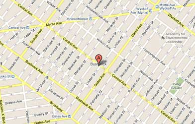 Map of Bushwick