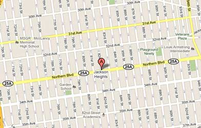 Map of Jackson Heights