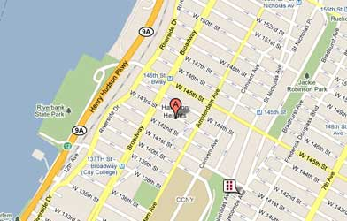 Map of Morningside Heights/West Harlem