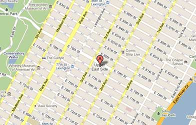 Map of Upper East Side