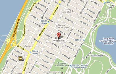 Map of Upper West Side