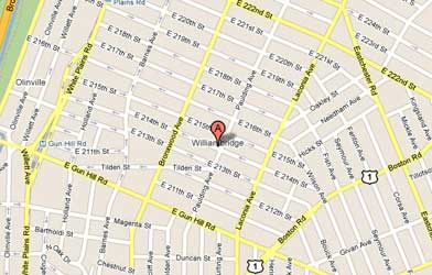 Map of Williamsbridge